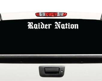 Raider Nation Decal