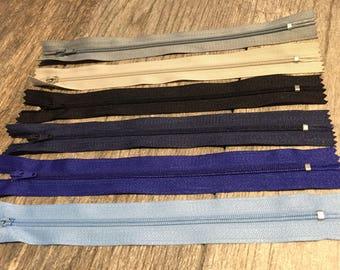 8 inch zipper closed end