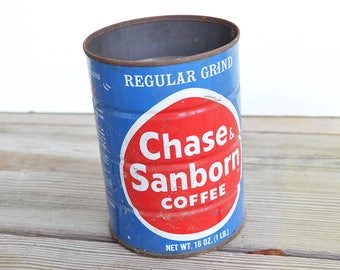 Vintage / Antique Chase Sunborn Coffee Can