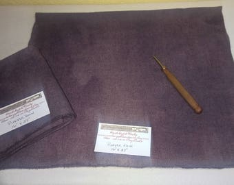New Purple Rain - Wool Fabric - Fat Quarter - Rug Hooking Wool - Rug Making - Rug Supplies - Doll Making