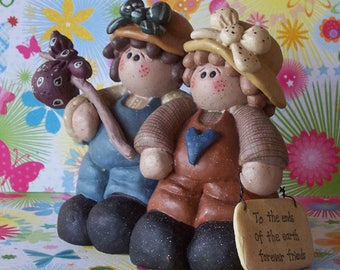 Lovable Girl Hobo Friends Figurine To the ends of the earth forever friends