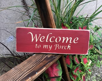 Wood Porch Sign, Porch Decor, Welcome To My Porch, Gift For Mom, Porch or Deck Sign, Wood Sign Saying, Wooden Signs, Porch Decor