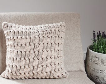 Knitting PATTERN pillow - Hayfield pillow cover pattern, homedecor patterns  - Listing36