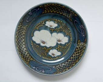 Large Studio Pottery Serving Plate by David Frith