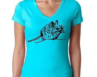 ON SALE Cute Animal Shirt   Endangered Shrew   Animal Print T-shirt   Elephant Shrew