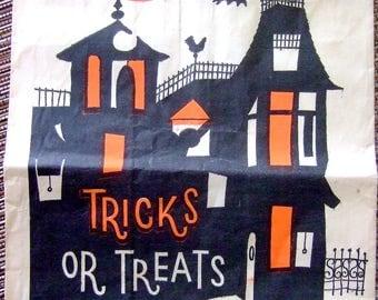 Vintage 1970's Halloween Tricks or Treats Loot Bag