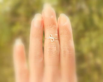 Sterling Silver Ring Rose gold Adjustable Ring Gold Thumb Rings Handmade Jewelry Women Ring
