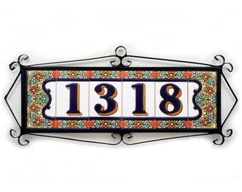 Modern number sign, Glazed number sign, Modern numbers for home, Numbers for home, Number sign, Glazed door number, Spanish door number