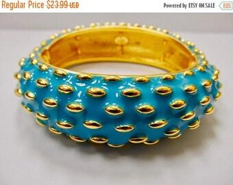 On Sale JOAN RIVERS Wide Enameled Stretch Bangle Bracelet Item K # 3178