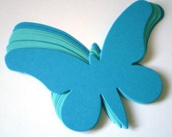 Large Blue Die Cut Butterflies