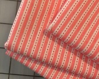 Riley Blake - FAT QUARTER cut of Backyard Stripe by Nadra Ridgeway in Pink C5296 - 100% cotton
