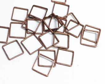 50pc 8mm copper finish square brass made links-5612A