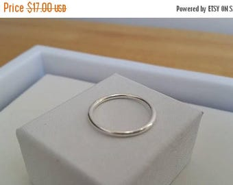 ON-SALE Heavy Stacking Ring - Barely there Ring, Thin band Ring, Sterling Silver Ring, 14 gauge