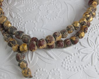 Gold Leaf Terra Cotta Mala