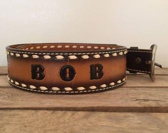 "Vintage Tony Lama Belt / BOB / 33-36 """