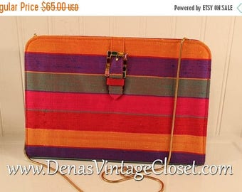 On Sale 50% OFF Vintage 80s Timothy Histman Jewel Tone Shoulder Bag Purse