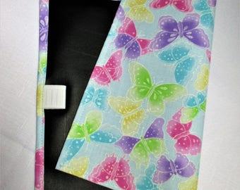 Blue butterfly chalkboard placemat, travel mat, kids placemat