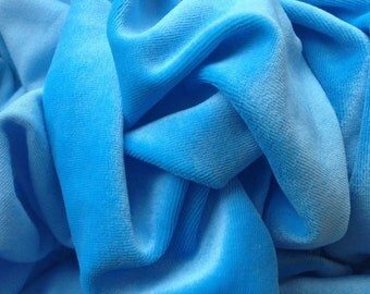 Bamboo Organic Cotton Velour - Blue (6001.21.00.00)