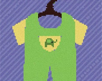 Needlepoint Kit or Canvas: Uni Baby Outfit
