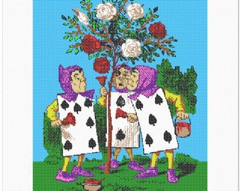 Needlepoint Kit or Canvas: Alice In Wonderland Roses