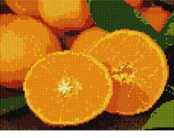 Needlepoint Kit or Canvas: Navel Oranges