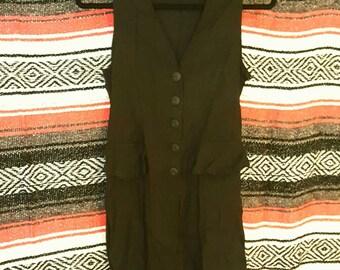 Vintage Paris Joule Slit Shirt Top Tunic Size Small S