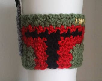 Crochet Boba Fett Coffee Cup Cozy