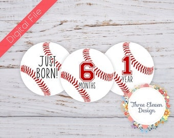 Baseball Printable Monthly Stickers