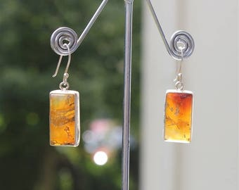 Earrings stones and sterling silver