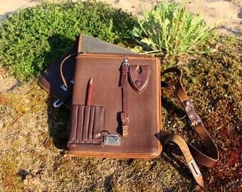 Soviet army map bag Genuine leather messenger bag 1955 Soviet officer bag Military bag Soviet planshet Tablet bag Vintage messenger bag