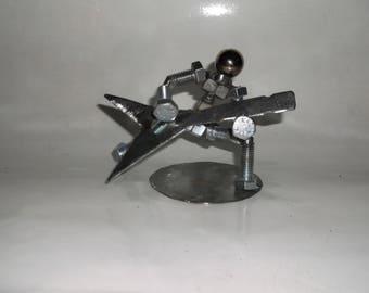 Guitarist Metal Bolt Figurine Person