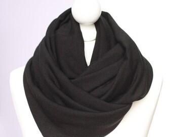 ENVOI GRATUIT // Snood hiver lainage noir // chaud// letitsnood