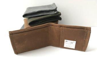 Slim Men's Wallet - Waxed Canvas Wallet - Men's Vegan Wallet - Minimalist Wallet - Gifts for Him