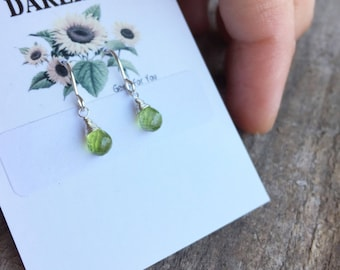 One of kind Peridot Sterling Silver Earrings
