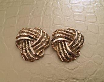Round Gold Braided Shoe Clip Vintage Functional Keepsake Shoe Accessory