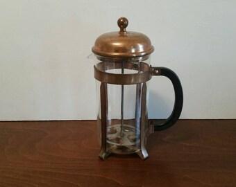 Vintage Copper Bodum French Coffee Press