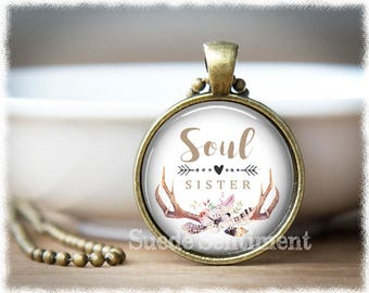 Soul Sister Necklace • Best Friend Gift • Long Distance Friendship • Best Friends • Gift For Sister