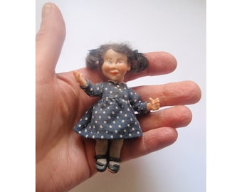 Little Girl poseable ooak doll house miniature doll