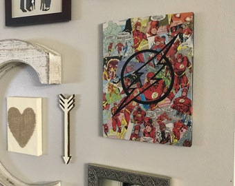 The Flash Wall Art, Flash, The Flash Collage, Flash Picture, Flash Wall Hanging, The Flash Art, The Flash, The Flash Logo, The Flash Comics