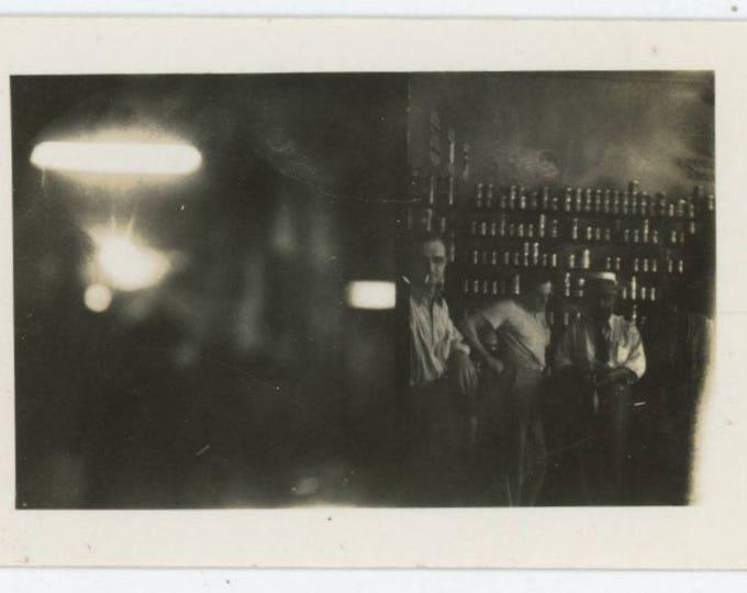 Vintage Snapshot Photo: Three Men in Store (710613)