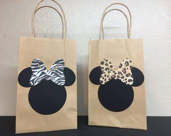Safari Minnie Goodie Bags--set of 6
