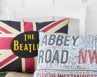 The Beatles Gift Set Pillows Abbey Road London Pillows for Beatles Fan