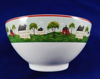 Vintage Warren Kimble Bowl, Country Life for Brandon House, 1998 Sakura, Kimble Cereal Bowl, Side Serving Bowl