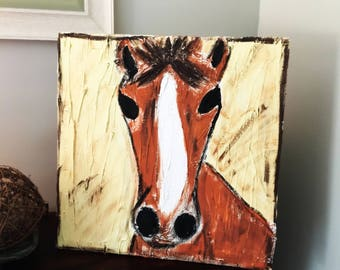 Textured Horse Painting
