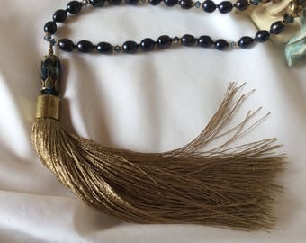 Long Tassel and Freshwater Pearl Necklace