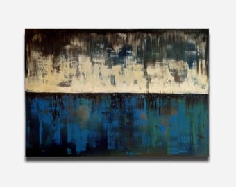 Abstract Landscape, Deep Blue Sea, Seascape, Abstract Oil Painting, Abstract Canvas, Wall Art, Abstract painting, Home deco, modern abstract