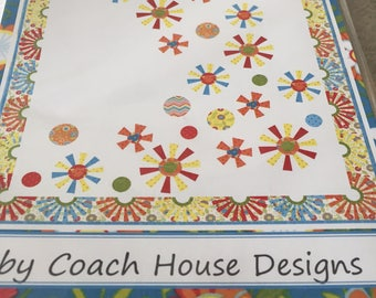 """Paper Pattern for a quilt called Groovy by Barbara Cherniwchan of Coach House Designs 56"""" x 72"""""""