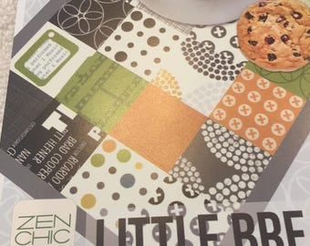 Paper Pattern for a quilted place mat called Little Break by Zen Chic for Moda