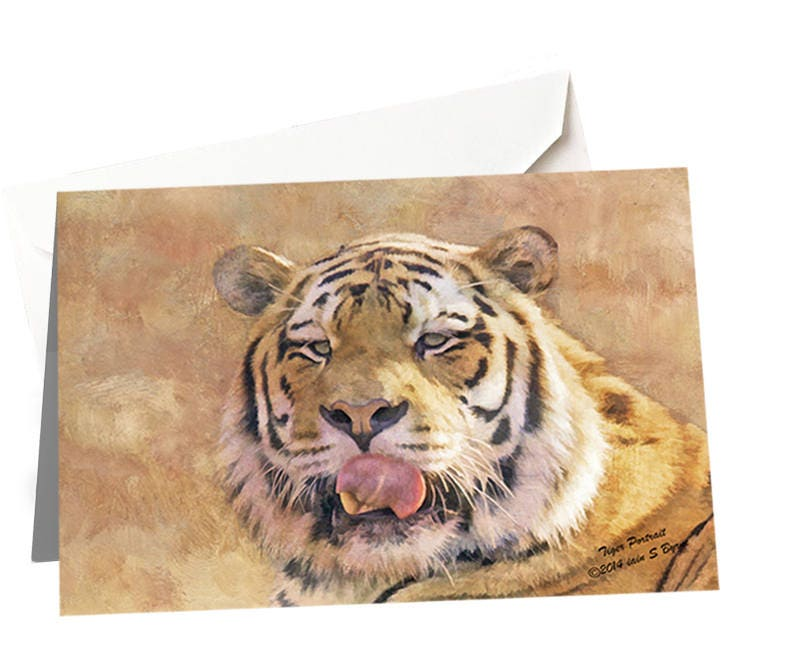 Tiger Birthday Card For Dad Blank Greeting Card For Him Blank
