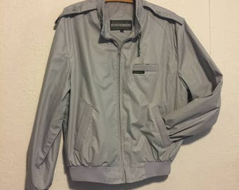 Vintage 1980s Gray Members Only Jacket ~ Size 40